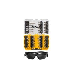 Skrūvgriežu uzgaļu komplekts DeWalt DT70703 47 gab. + saulesbrilles